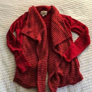 Red Sparkly Cardigan - Lucky Brand